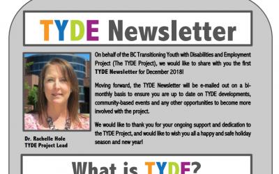 TYDE Newsletter December 2018